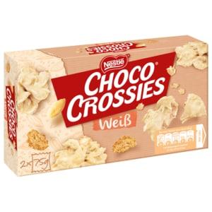 Nestlé Choco Crossies Schokosnacks Weisse Schokolade 2x75g