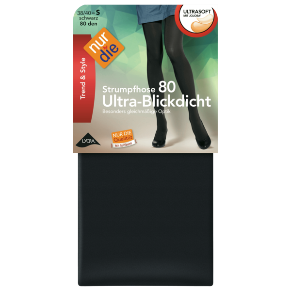 Nur die Ultra-Blickdicht Strumpfhose schwarz 38-40
