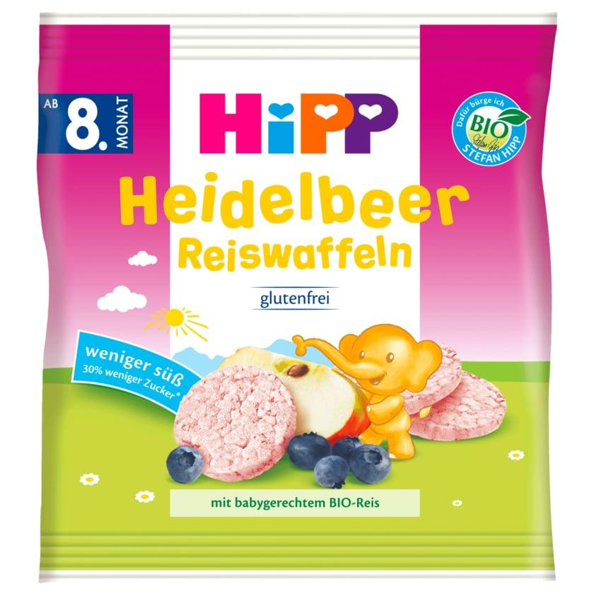 Hipp Knabberprodukte Bio Heidelbeer Reiswaffeln ab 8. Monat 30g