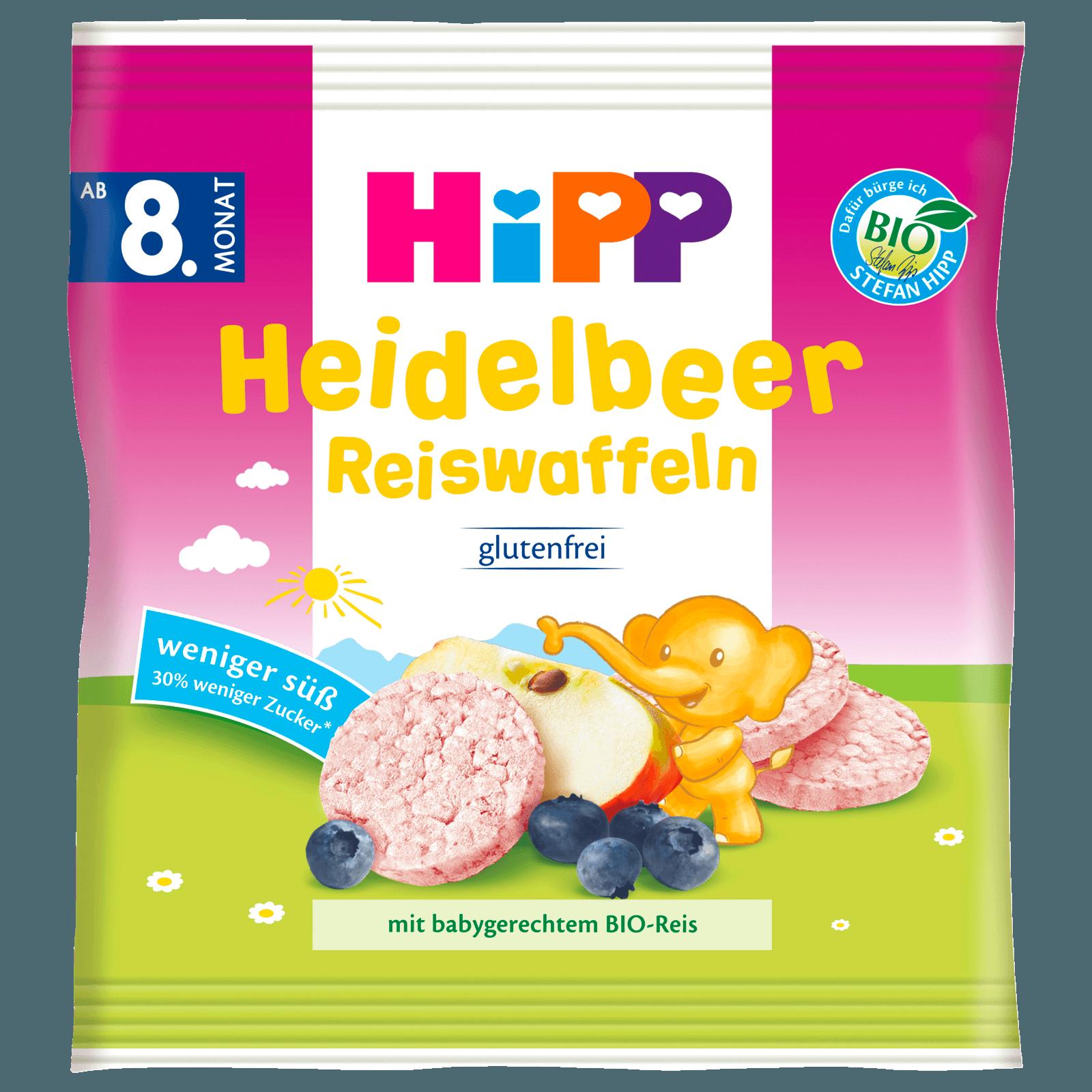 Hipp Knabberprodukte Heidelbeer Reiswaffeln ab 8. Monat 30g