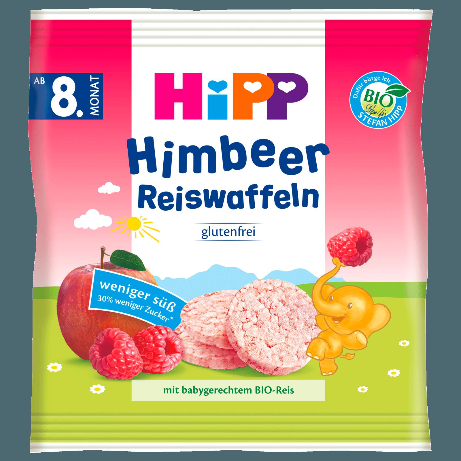 Hipp Knabberprodukte Himbeer Reiswaffeln ab dem 8. Monat 30g