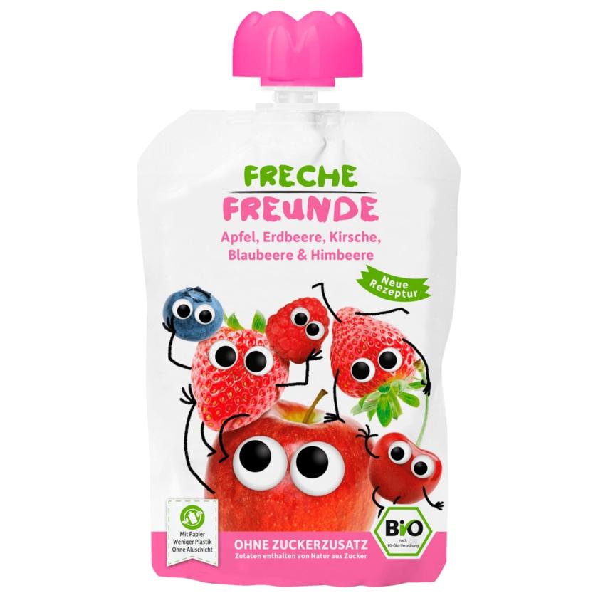 Erdbär Freche Freunde Bio 100% Apfel, Erdbeere, Blaubeere & Himbeere 100g