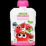Erdbär Freche Freunde 100% Apfel, Erdbeere, Blaubeere & Himbeere 100g
