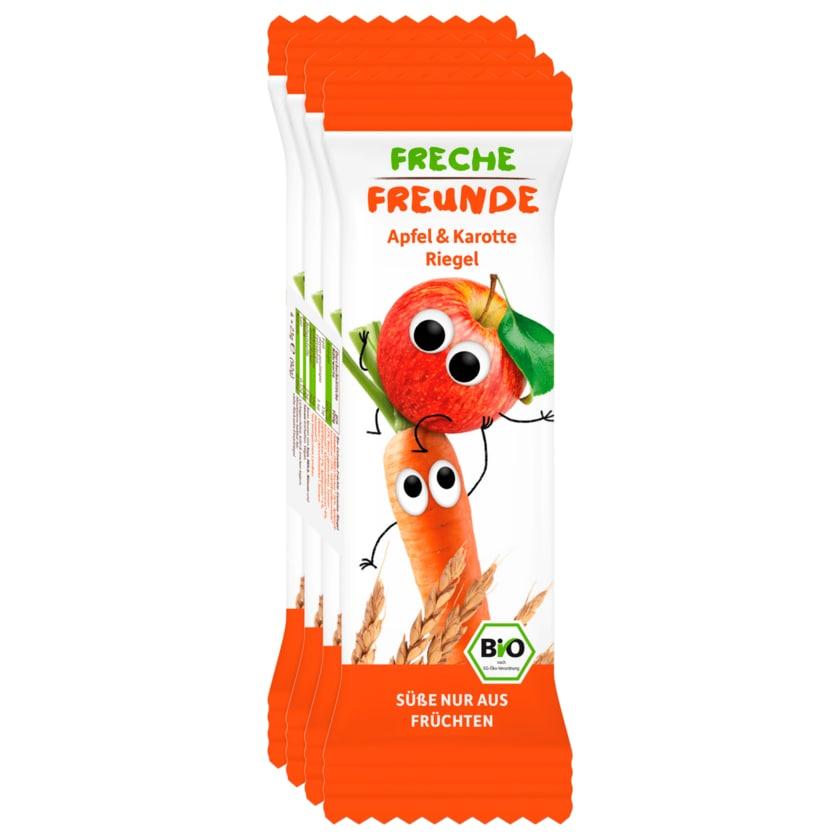 Erdbär Freche Freunde Bio Getreideriegel Apfel & Karotte 4x23g
