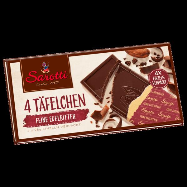 Sarotti Edelbitter Schokolade 72 % 4x25g