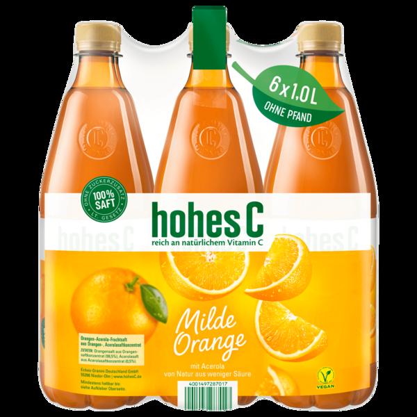 Hohes C Milde Orange 6x1l