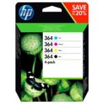 HP Tintenpatronen Set Nr. 364 Schwarz, Gelb, Magenta, Cyan 4 Stück