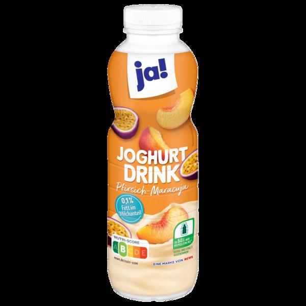 ja! Joghurt-Drink Pfirsisch-Maracuja 0,1% 500g