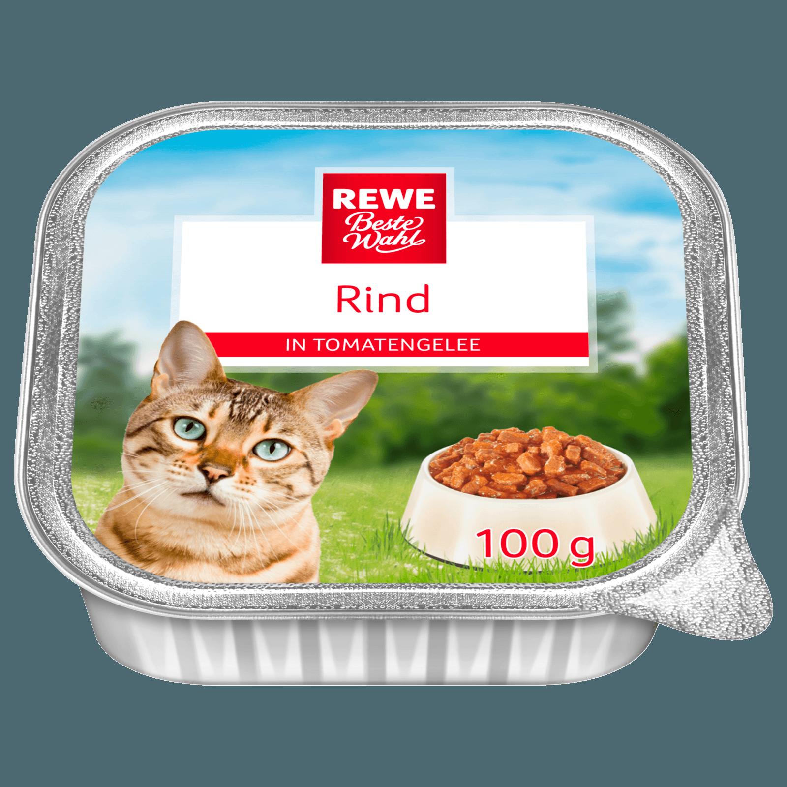 REWE Beste Wahl Katzenfutter Rind in Tomatengelee 100g