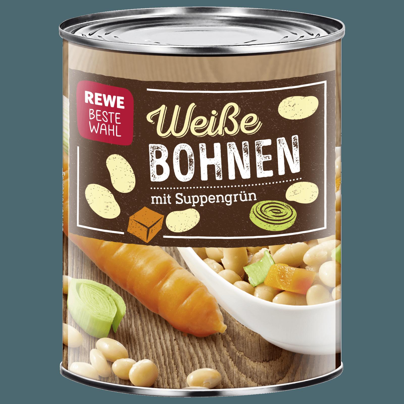 REWE Beste Wahl Weiße Bohnen mit Suppengrün 850ml