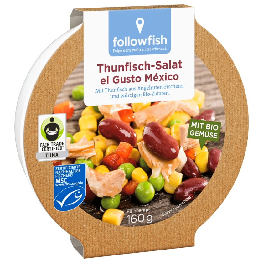 Followfish MSC Thunfisch Salat Mexico 160g