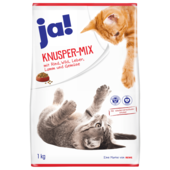 ja! Katzenfutter Knuspermix Rind & Gemüse 1kg