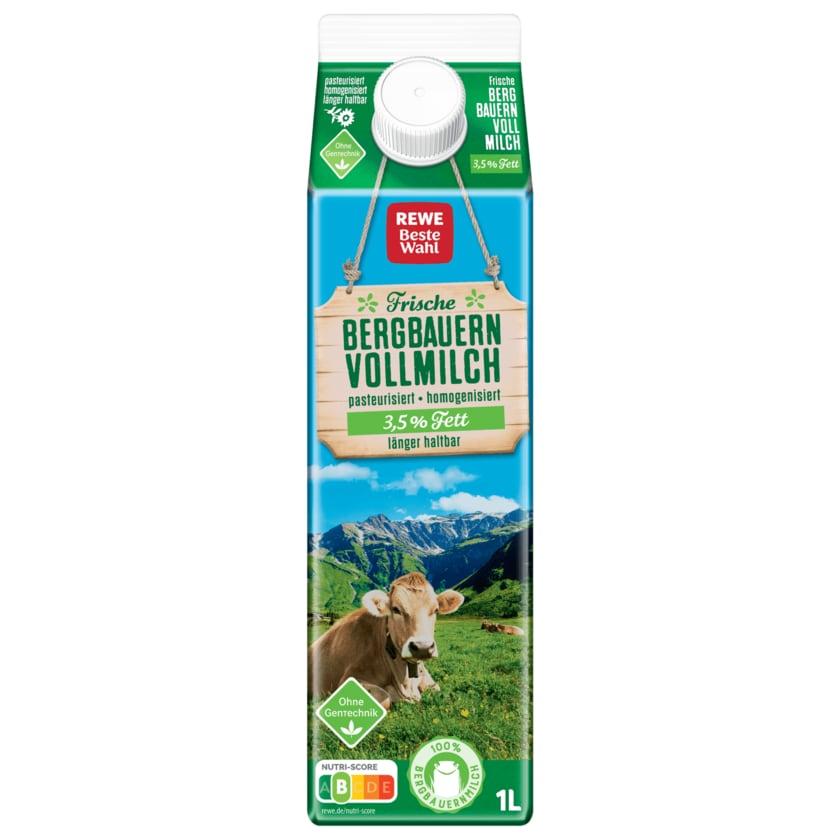 REWE Beste Wahl Frische Bergbauern Vollmilch 3,5% 1l