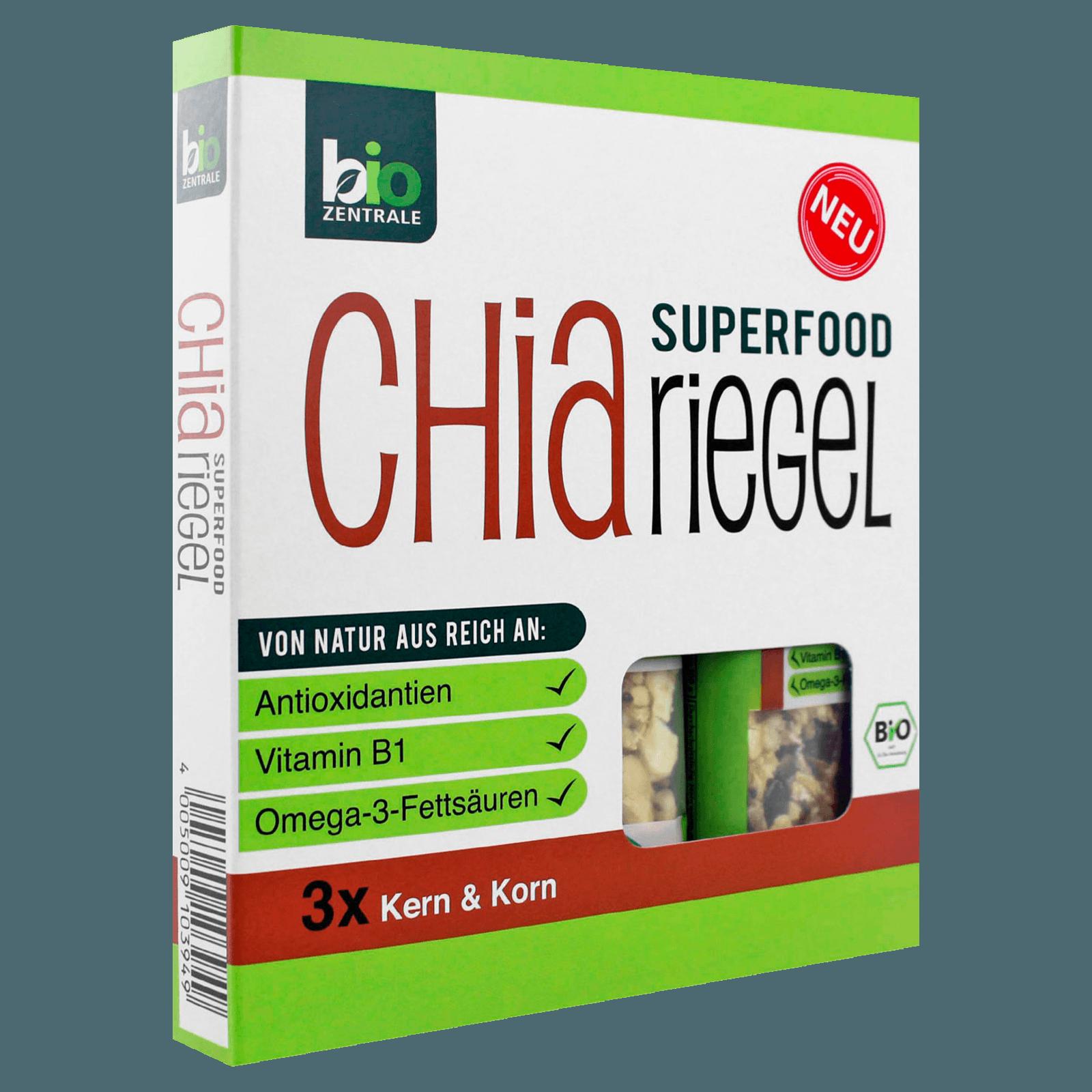 Bio Zentrale Chia-Riegel Kern & Korn 3x40g