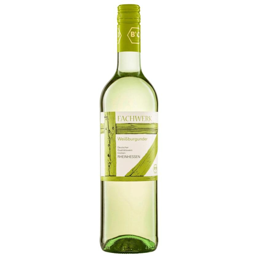 Fachwerk Weißwein Bio Weissburgunder QBA trocken 0,75l