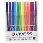 Vivess Fasermaler 12er Pack