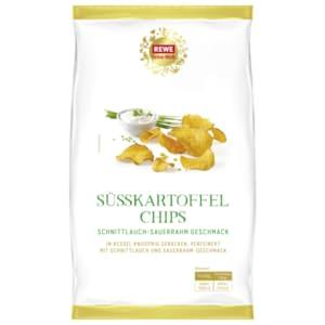 REWE Feine Welt Süßkartoffelchips mit Sauerrahm 125g