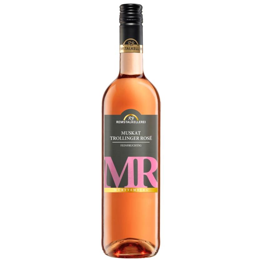 Remstalkellerei Muskat- Trollinger Rosé feinfruchtig 0,75l