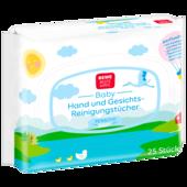 REWE Beste Wahl Hand und Gesichts-Reinigungstücher sensitiv 25 Stück
