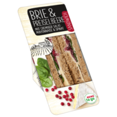 REWE to go Brie und Preiselbeere Sandwich mit cremiger Salatmayonnaise und Spinat 160g