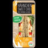 REWE to go Hähnchen Sweet Chili Sandwich mit Paprika und Mais 170g