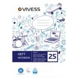 Vivess Heft A4 Lin 25 16 Blatt
