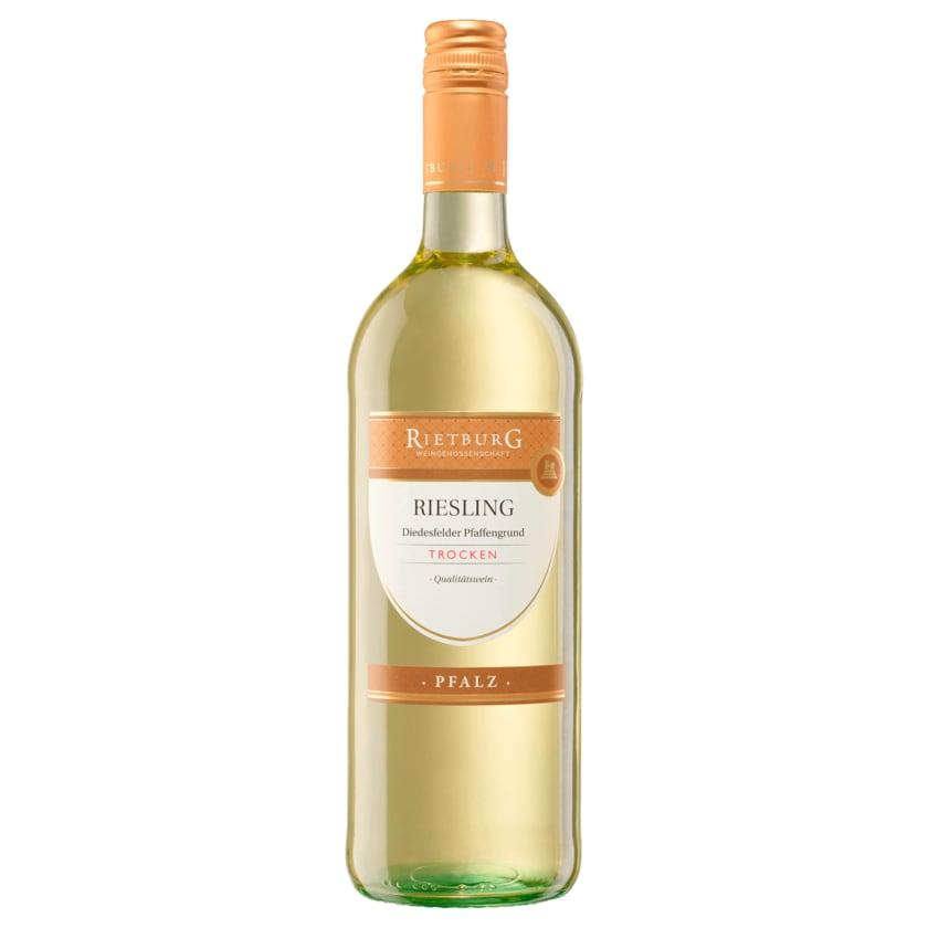 Rietburg Riesling Qualitätswein Weißwein trocken 1l