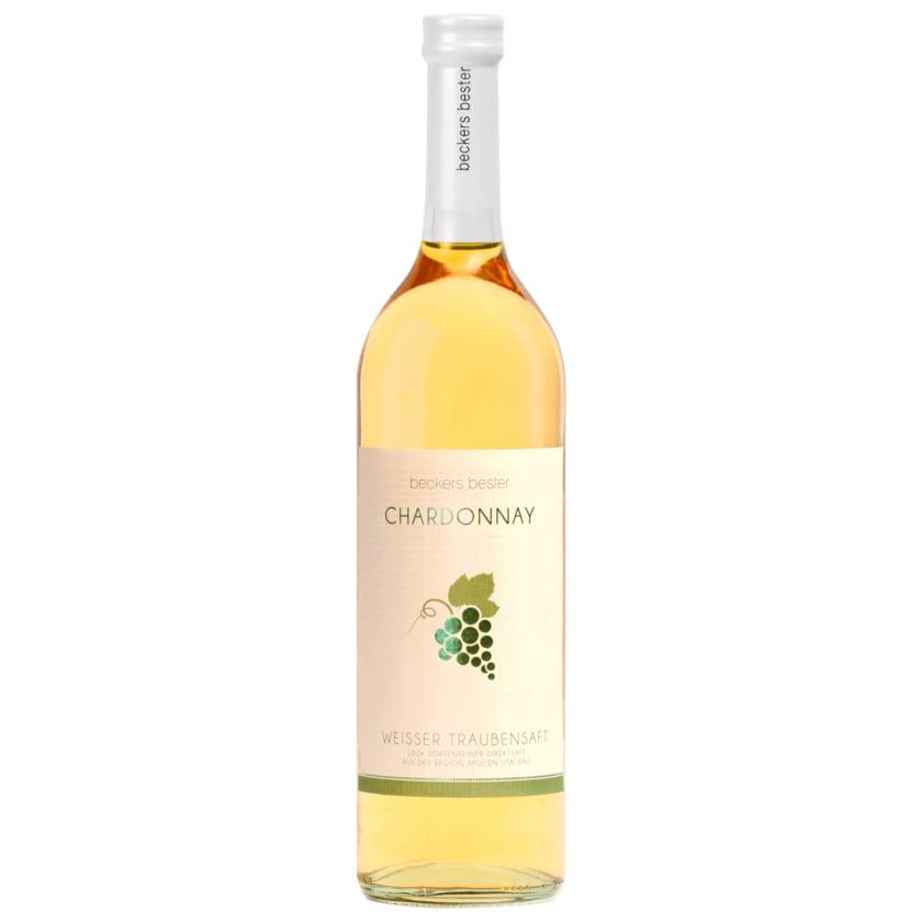 Beckers Bester Traubensaft Weiss Chardonnay 0,7l