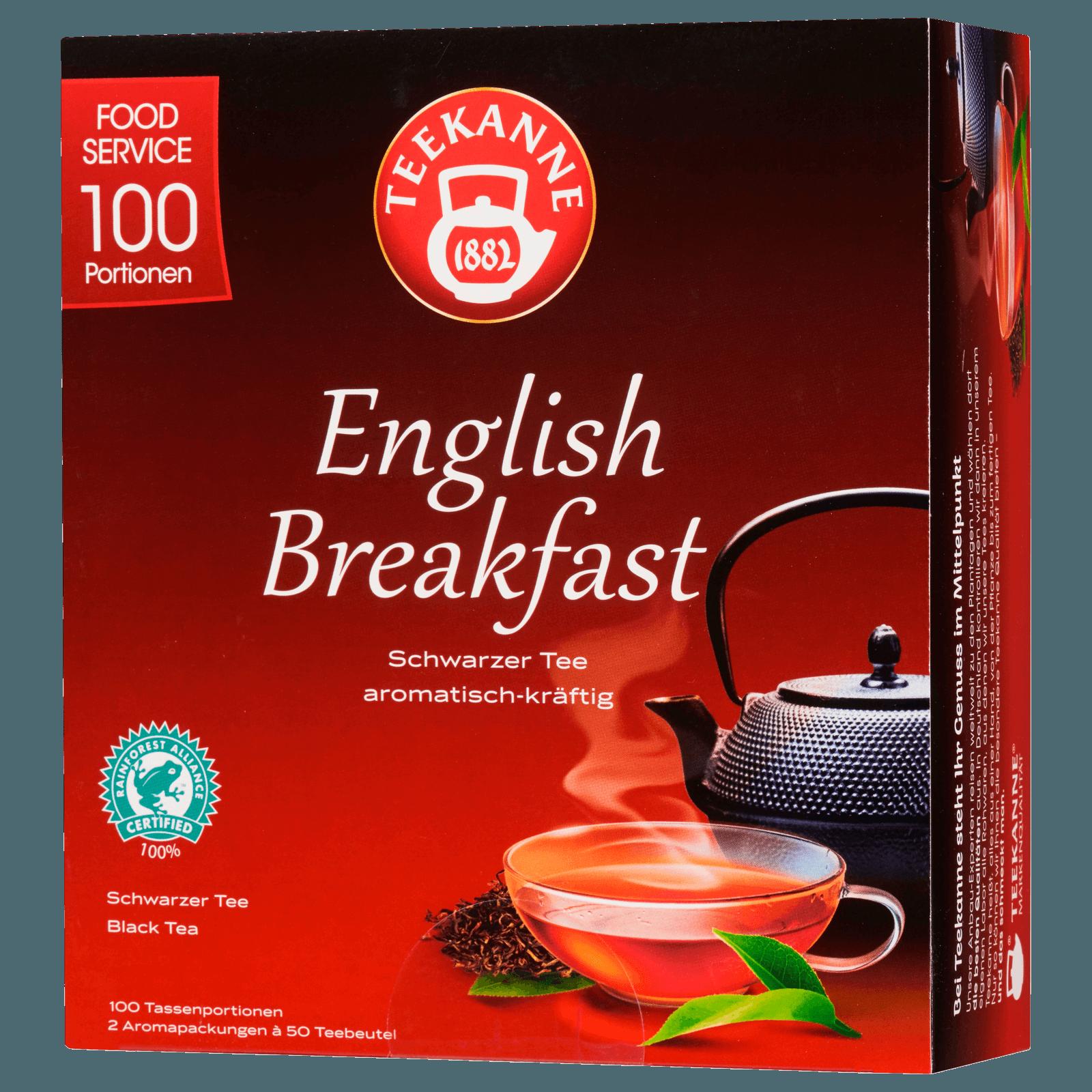 Teekanne English Breakfast Schwarzer Tee 175g, 100 Beutel