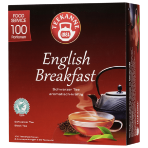 Teekanne English Breakfast Schwarzer Tee 175g, 100 Beutel