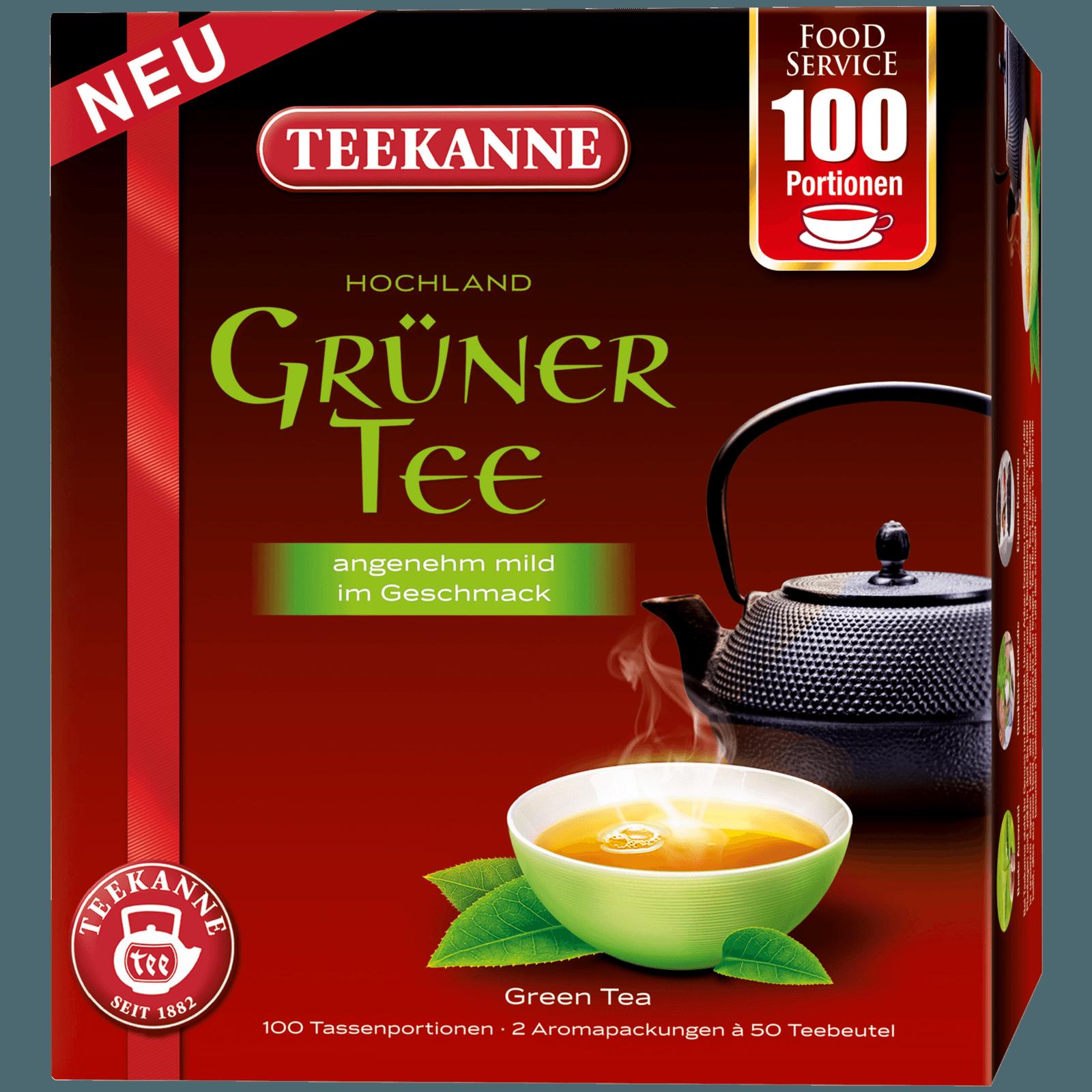 Teekanne Grüner Tee 150g, 100 Beutel