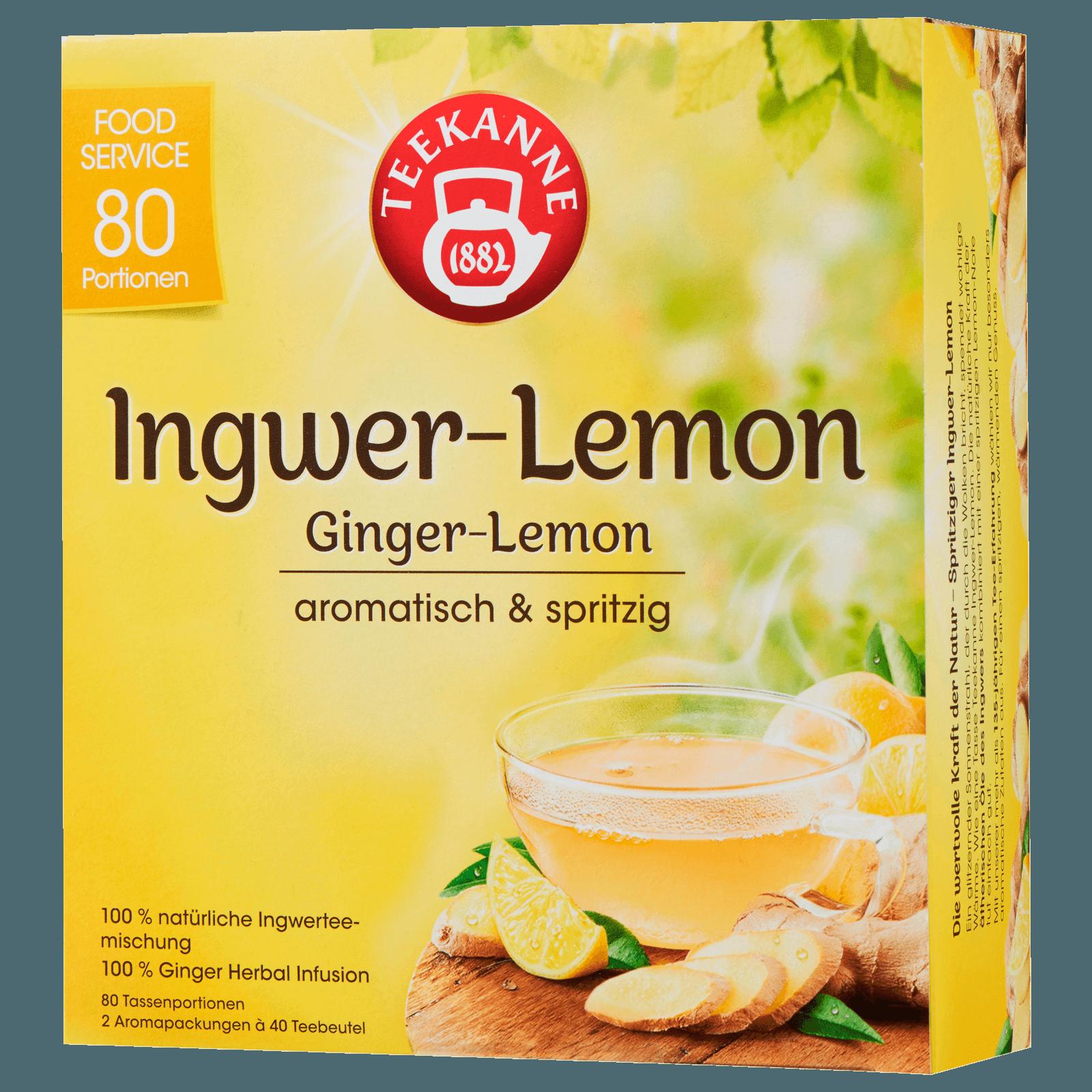 Teekanne Ingwer-Lemon 120g, 80 Stück
