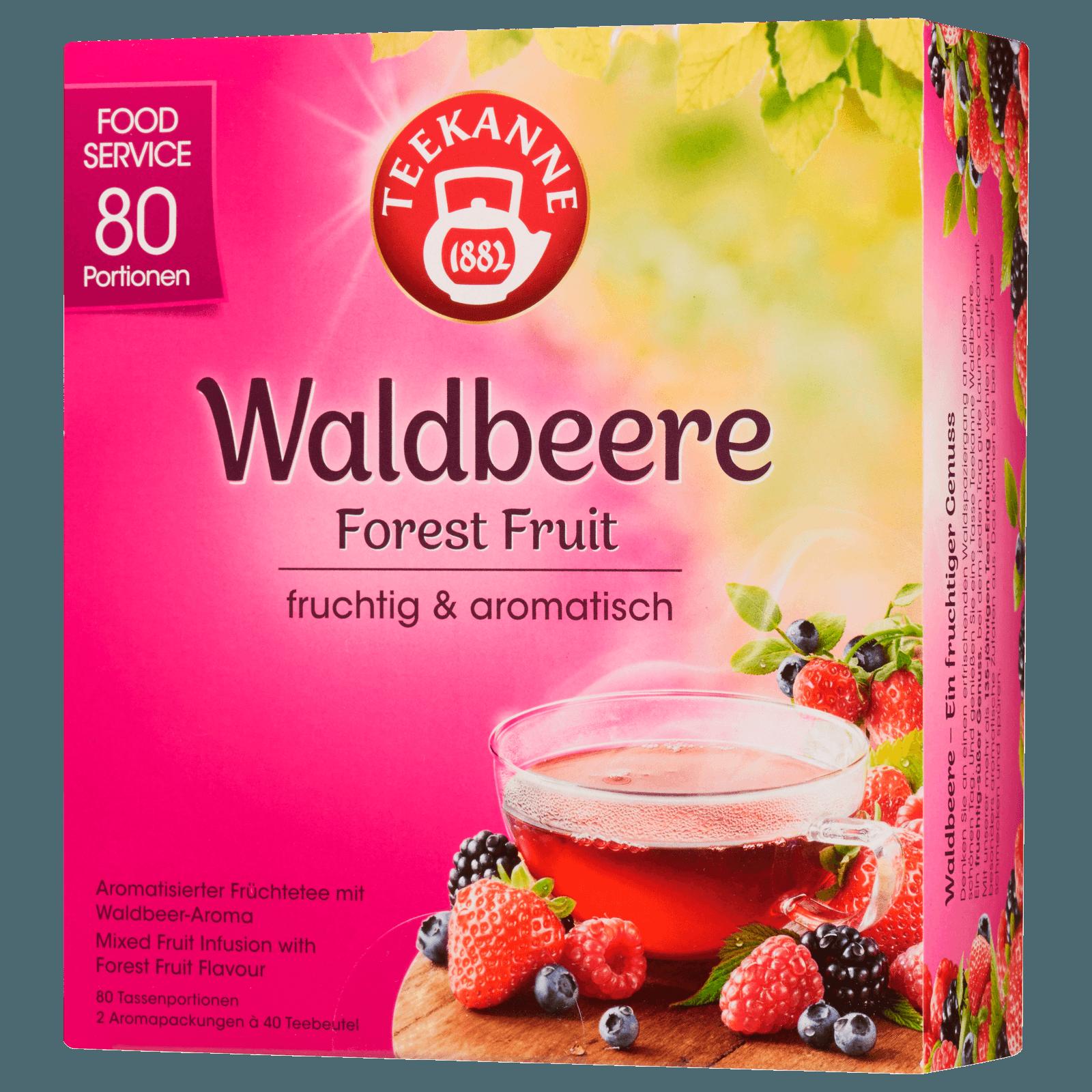 Teekanne Waldbeere 180g, 80 Beutel