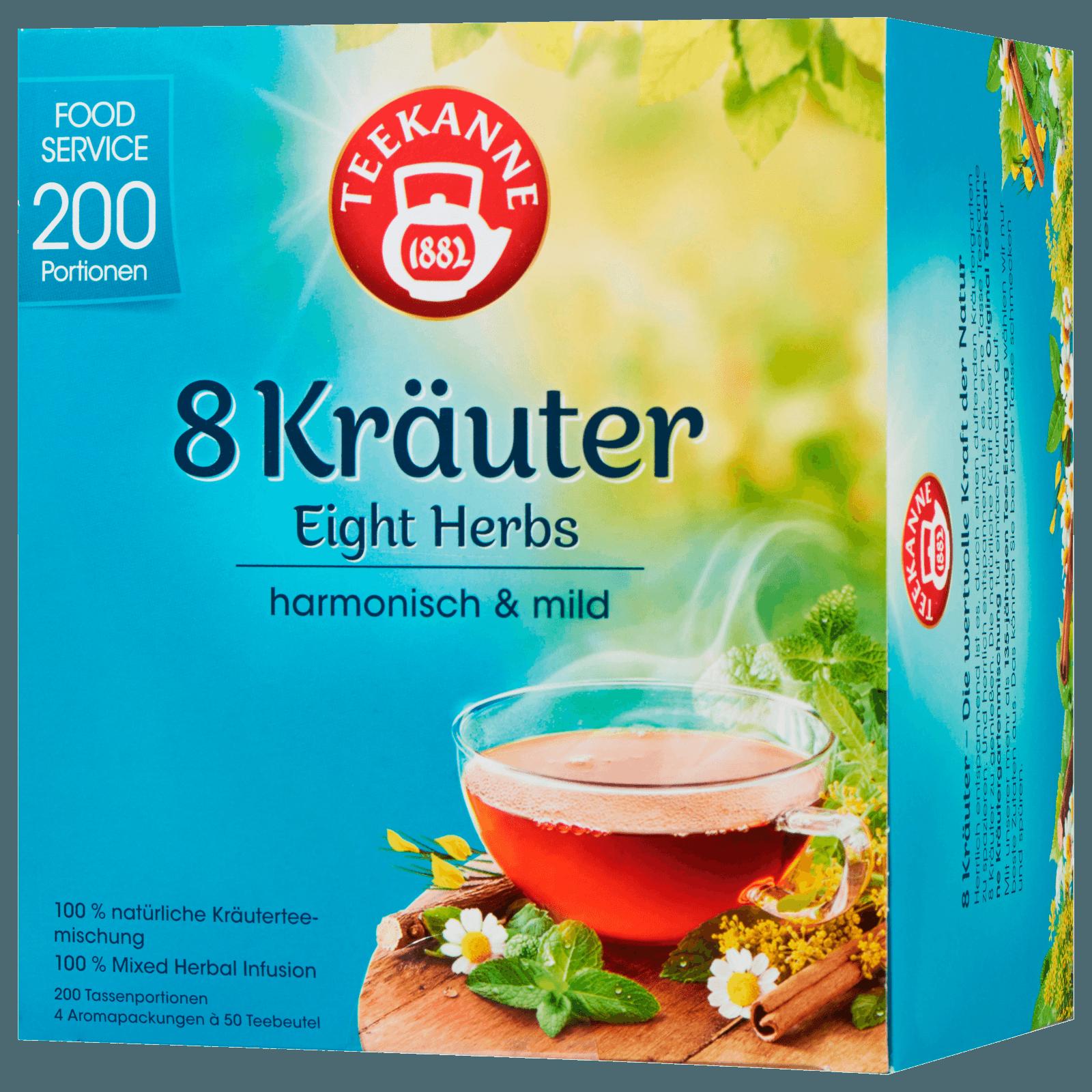 Teekanne 8 Kräuter Tee 250g, 200 Beutel