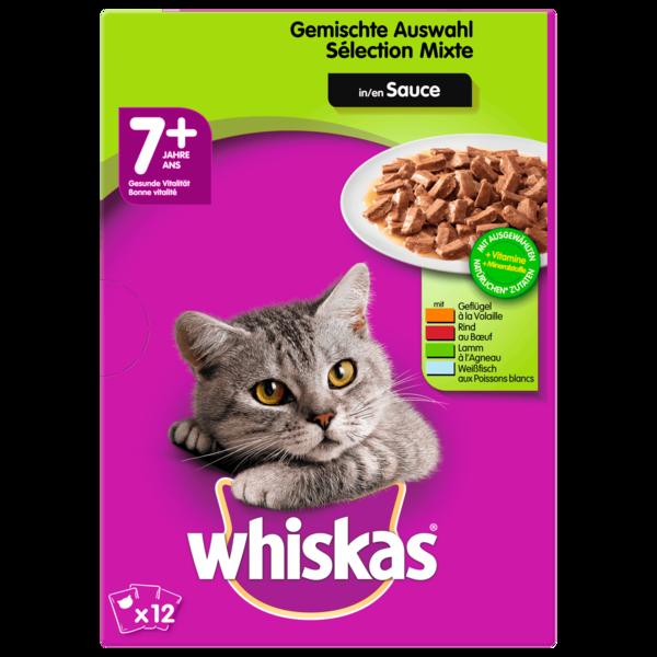 Whiskas 7+ Gemischte Auswahl in Gelee 12x100g