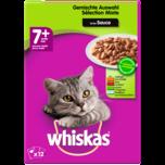 Whiskas Katzenfutter 7+ Gemischte Auswahl in Gelee 12x100g