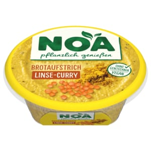 NOA Brotaufstrich Linse Curry 175g