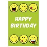 Vivess Geburtstagskarte Happy Birthday Emojis