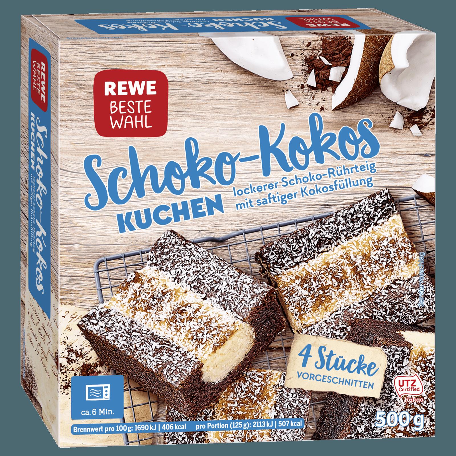 Rewe Beste Wahl Schoko Kokos Kuchen 500g Bei Rewe Online Bestellen