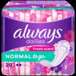 Always Slipeinlagen Singles to go mit Geruchsneutralisierung 20 Stück