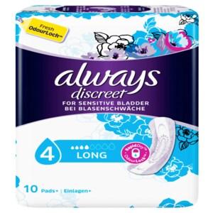 Always Discreet Inkontinenz Einlagen+ Long 10 Stück