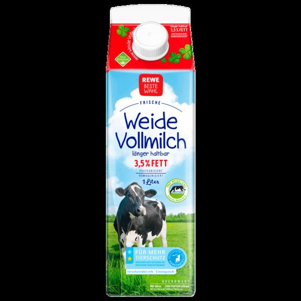 REWE Beste Wahl Frische Weidevollmilch 3,5% 1l