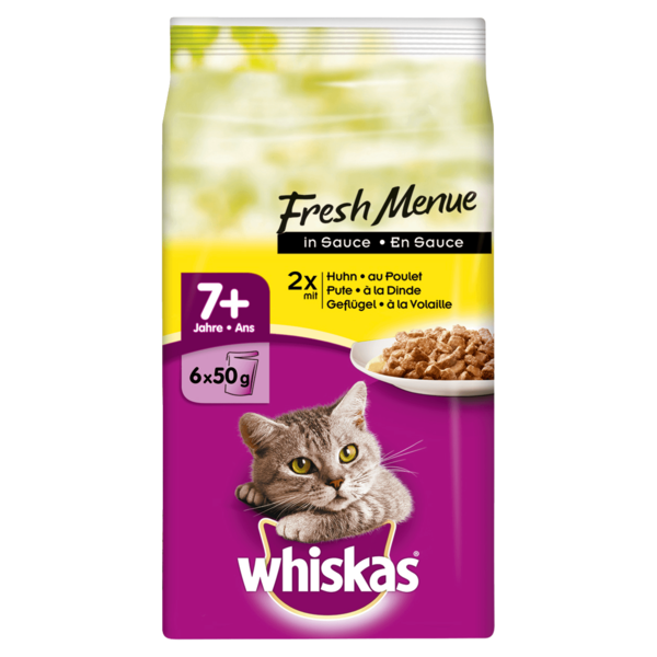 Whiskas 7+ Jahre Fresh Menue in Sauce 6x50g