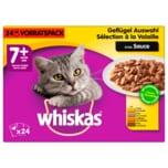 Whiskas 7+ Jahre Geflügel Auswahl in Sauce 24x100g Vorratspack