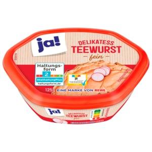 ja! Delikatess Teewurst fein 125g