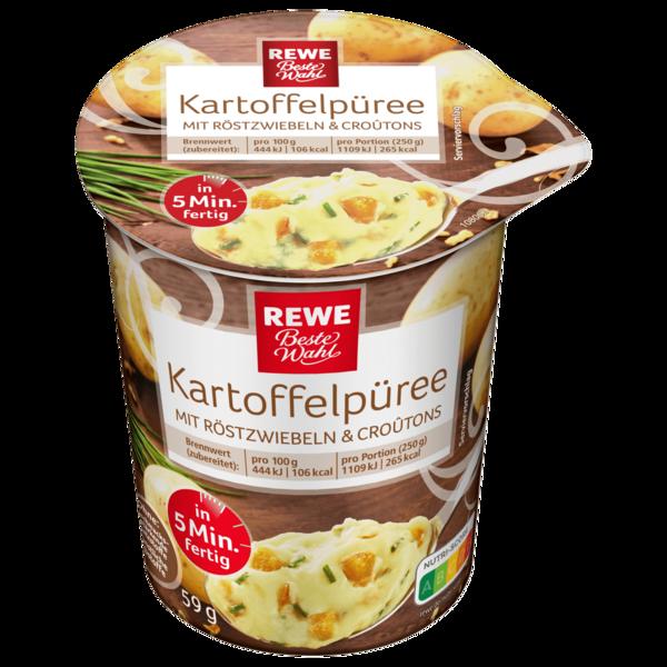 REWE Beste Wahl Kartoffelpürree mit Röstzwiebeln und Croûtons 59g