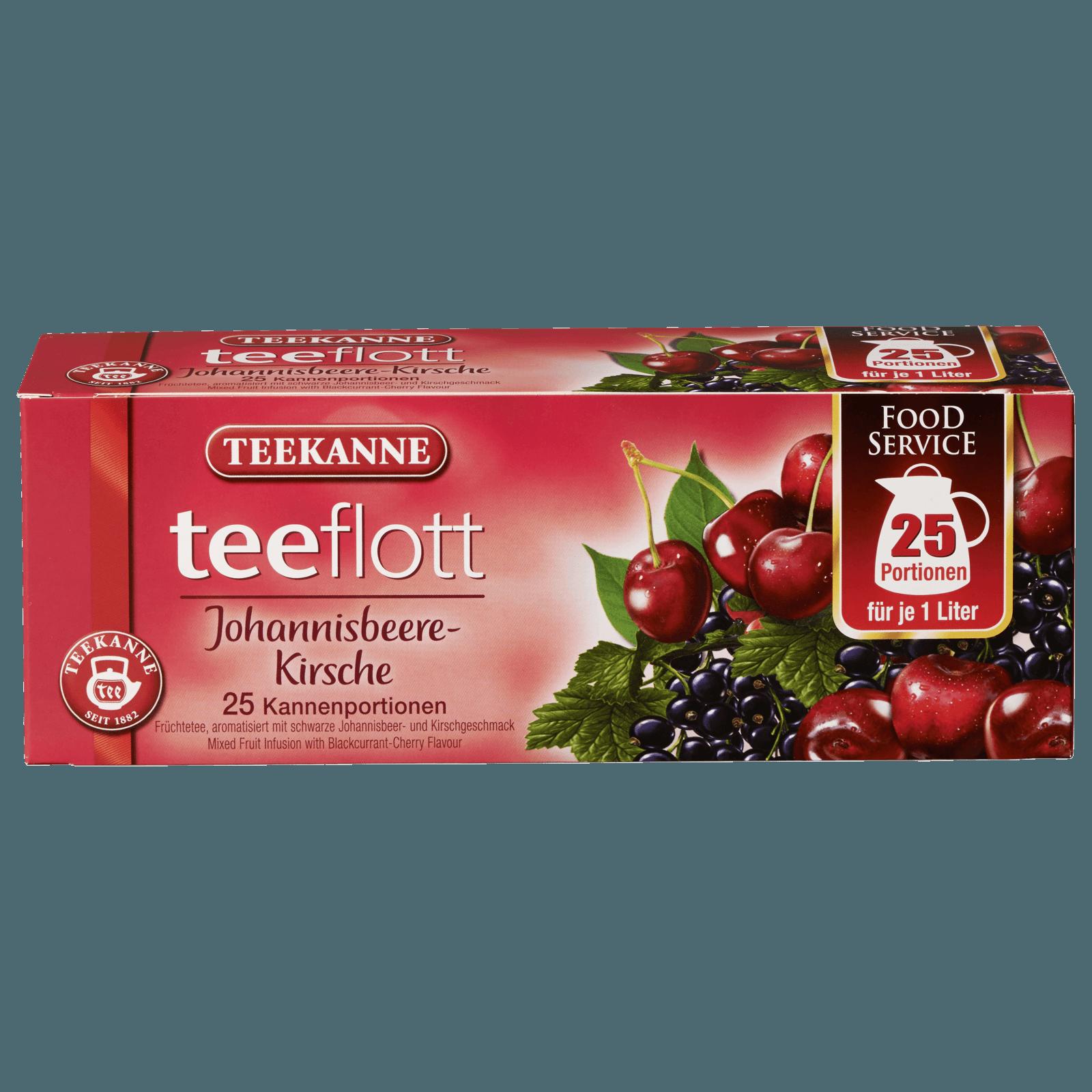 Teekanne Teeflott Johannisbeere-Kirsche 125g, 25 Stück