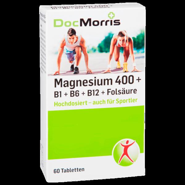 Doc Morris Magnesium 400 + B1 + B6 + B12 + Folsäure 60 Stück