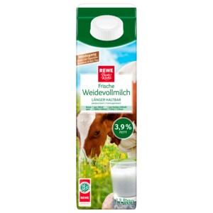 REWE Beste Wahl Weidevollmilch 3,9% 1l