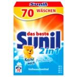 Sunil Vollwaschmittel Pulver 2in1 Frischeduft 4,76kg, 70WL